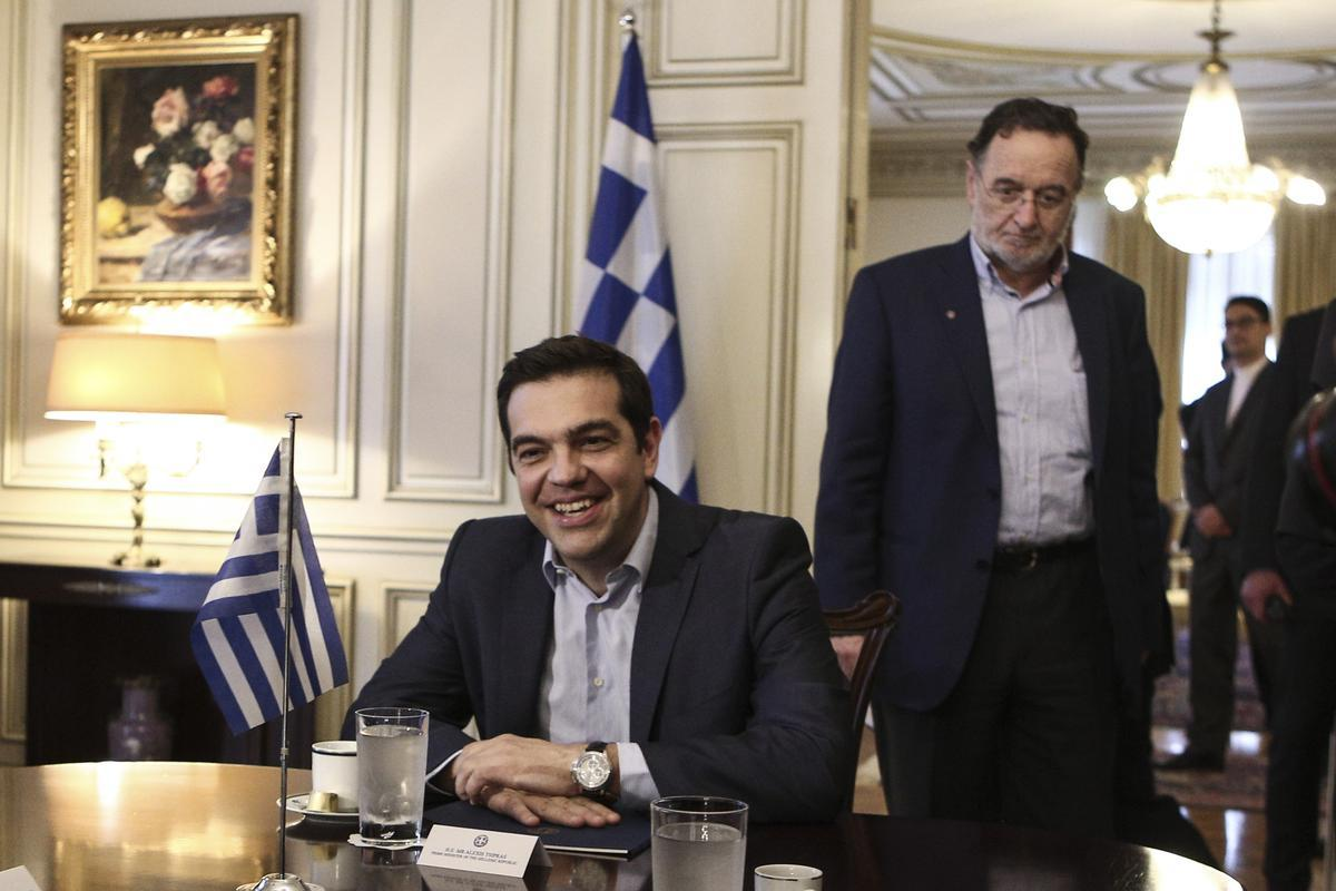 Meeting between Greek Prime Minister Alexis Tsipras and the Iranian Foreign Minister Mohammad Javad Zarif Konsari in Maximos Mansion, Athens, on 28 May, 2015 / Συνάντηση του Αλέξη Τσίπρα  με τον Ιρανό Υπουργό Εξωτερικών Μοχάμαντ Τζαβάντ Ζαρίφ Κονσάρι, Αθήνα, 28 Μαίου, 2015